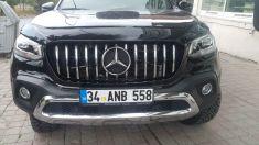 Mercedes X Class Krom Ön Difüzör